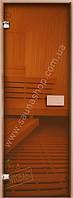 Двери для бани 600*1900 стекло Бронза