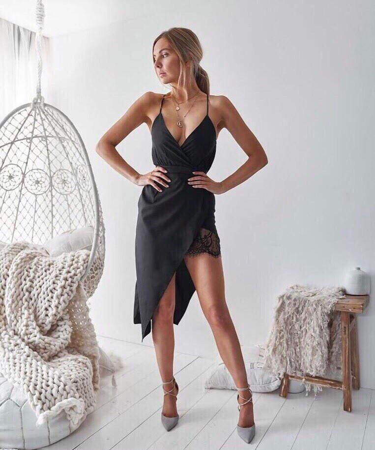 Асимметричное летнее платье - майка из шифона 68plt2569