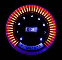 Указатель тахометр Ket Gauge 9905 LED диодный Ø52мм прибор датчик на автомобиль