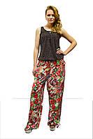 Женские брюки в модный принт на лето, фото 1