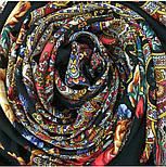 Испанское вино 1171-19, павлопосадский платок шерстяной  с шелковой бахромой, фото 7