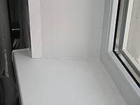 Откосы пластиковые на окно 1400*1200 двостворчате до 22 см