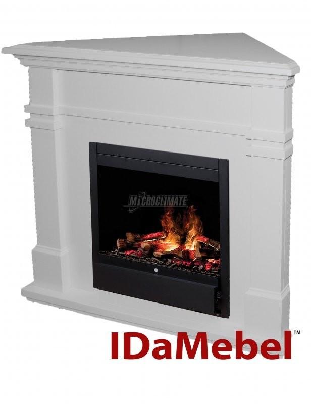 Электрокамины с 3D пламенем IDaMebel for Dimplex IDaMebel Florida (угловой, белый + Dimplex Albany)