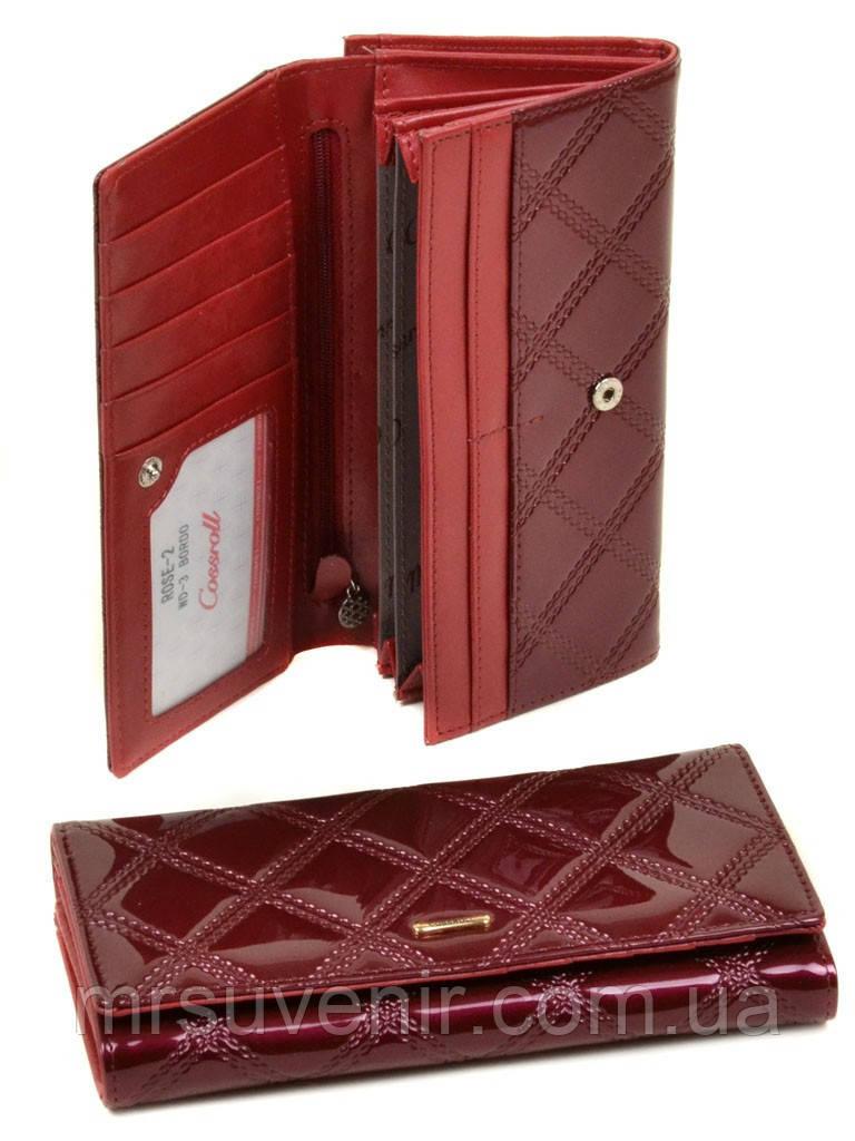 cad9fbbb50b3 Кошелек женский бордовый большой лаковый код 288, цена 326,25 грн ...