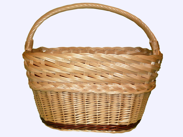 Одиночные плетеные корзины