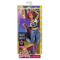 Кукла Барби 22 шарнира Йога Танцовщица пухлая Barbie Made to Move Dancer Doll Curvy двигайся как я