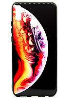 TPU + Glass Силикон Gradient Space Series for Huawei Honor 8X Mini Bubble Purple / Orange