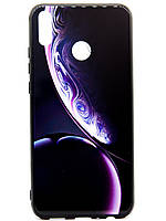 TPU + Glass Силикон Gradient Space Series for Huawei Honor 8X Twin Bubble Deep Purple
