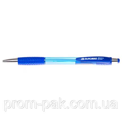 Ручка кулькова автоматична Buromax авт сіня (асорті), фото 2