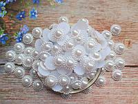 """Клеевой декор """"Ромашка"""", 18 мм, цвет белый, 10 шт."""