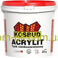 Штукатурка фасадная акриловая Акрилит/Acrylit , структура барашек зерно 1,0 мм