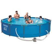 Круглый каркасный бассейн BestWay 56416 (366*76 см) с фильтр-насосом