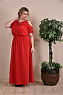 Червоне плаття великий розмір 0259-1, фото 2