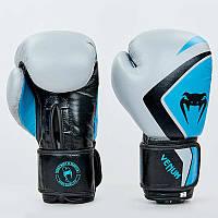 Перчатки боксерские кожаные на липучке VENUM CONTENDER 2.0 VL-8202-GR