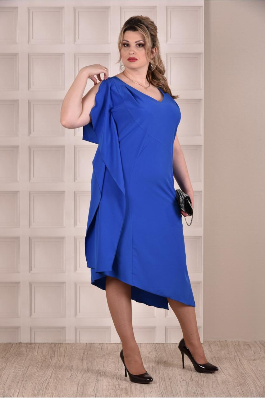 Синє плаття великий розмір 0265-2