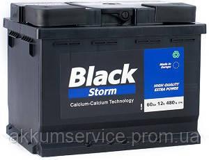 Аккумулятор автомобильный Black Storm 60AH L+ 480А