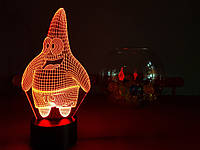 """Детский ночник - светильник """"Патрик"""" 3DTOYSLAMP"""