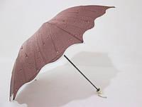 Женский зонт механика 3 сложения в капельку