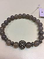 Агат браслет натуральный серый агат браслет из серого агата, фото 1