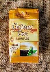 Чай зеленый листовой Westminster Gruner tee Vanille 250 gram