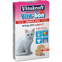 Витамины для котов Vita-Bon 31 таблетка витабон для кошек и котов от 1 до 6 лет