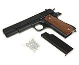 Пистолет пневматический страйкбольный Galaxy G13 (Colt M1911 Classic), фото 4