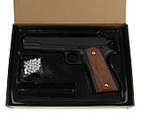 Пистолет пневматический страйкбольный Galaxy G13 (Colt M1911 Classic), фото 6