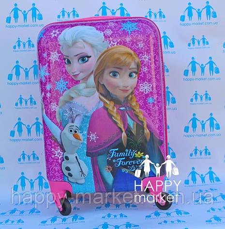 Чемодан дорожный детский с кодовым замком 55 см ручная кладь Холодное Сердце Frozen 2561-67, фото 2