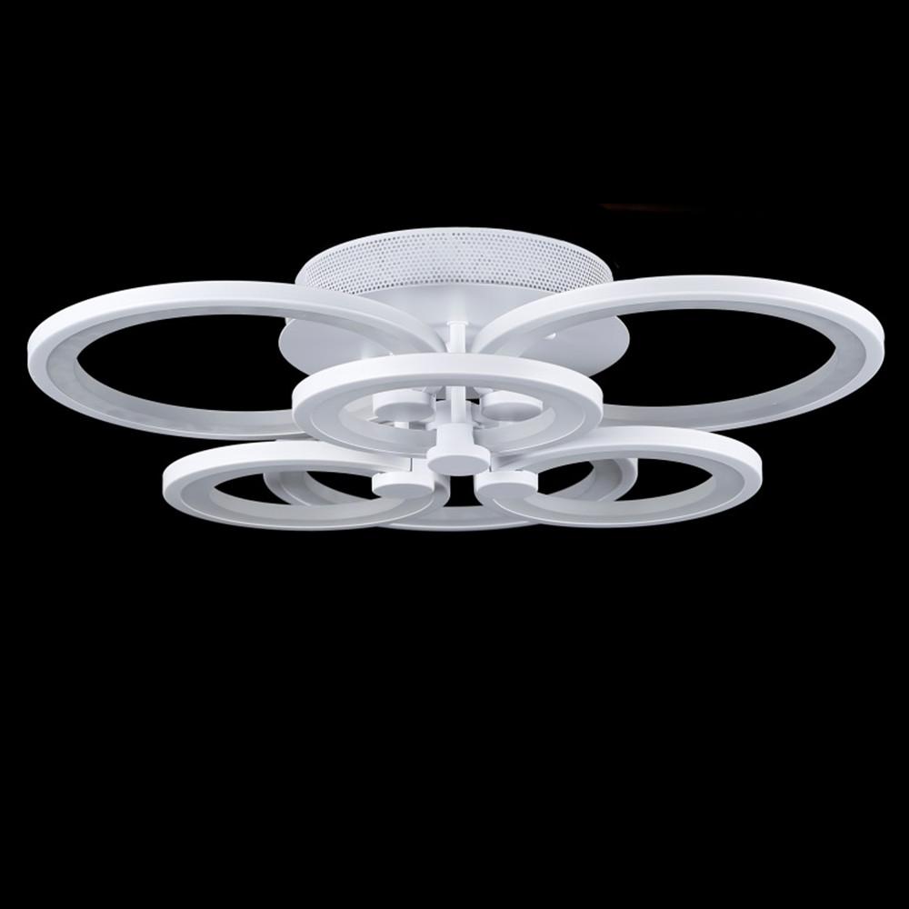Светодиодная LED люстра СветМира с пультом управления VL-7711/3+3 (белая)