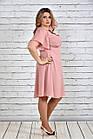 Розовое платье 0283-2 большой размер, фото 2