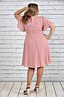 Розовое платье 0283-2 большой размер, фото 4