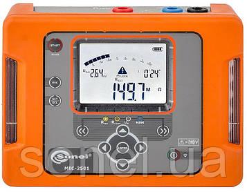 Мегаомметр MIC-2501UA, вимірювач опору електроізоляції до 1000 ГОм (1 ТОм) напругою до 2500 В