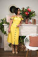 Женское платье из натурального льна.