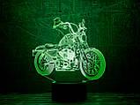 "Ночник 3D Светильник ""Мотоцикл 5"" 3DTOYSLAMP, фото 2"