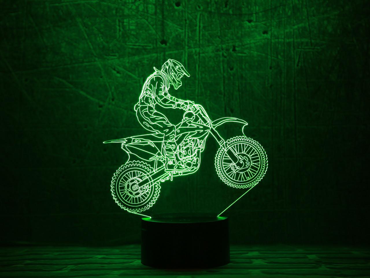 "3D Светильник ""Мотоцикл 6"" 3DTOYSLAMP"