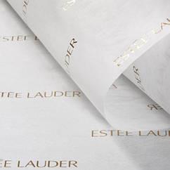 Печать логотипа на бумаге тишью