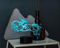 """3D светильник """"Конный спорт"""" 3DTOYSLAMP"""