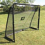 EXIT футбольные ворота стальные Coppa Tor 220 х 170 см чёрные, фото 3