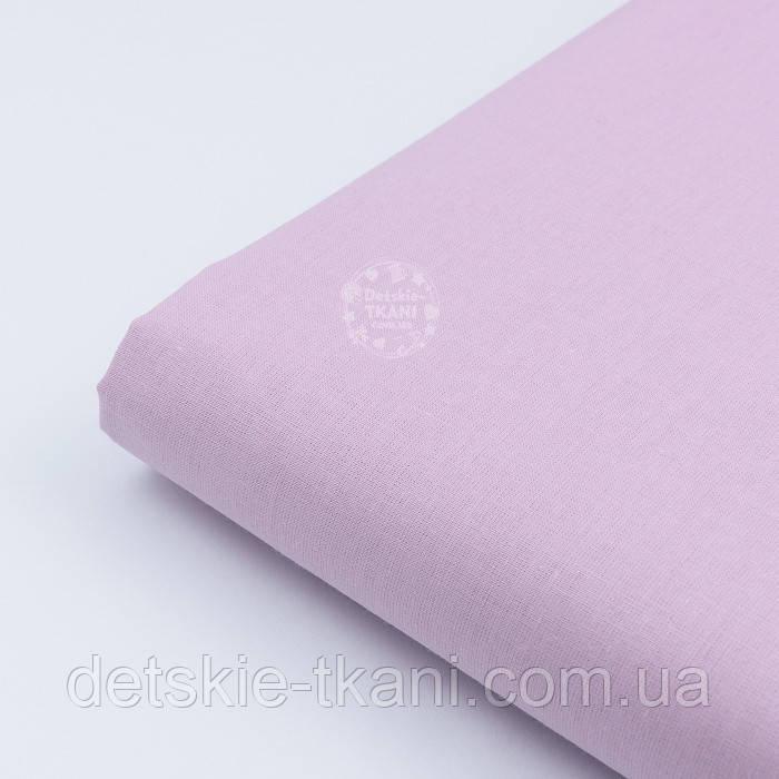 Лоскут ткани,цвет: светлая фиалка, №1965. размер 44*80 см