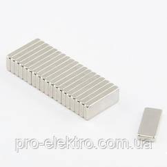 Неодимовий магніт прямокутник 15х6х2 мм