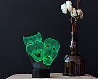 "3D светильник ""Маски "" 3DTOYSLAMP"