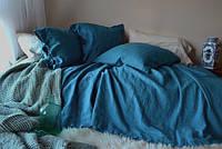 Льняное постельное белье, цвет и размер на выбор. Двойной, Евро, Семейный,  комплект постельного белья, фото 1