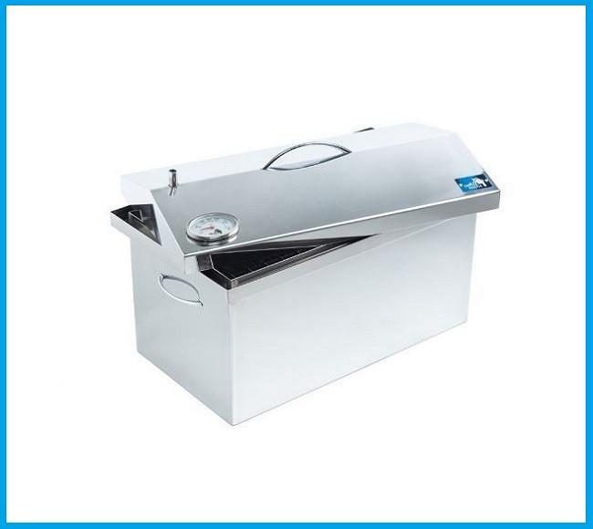 Коптильня для горячего копчения 520х300х310 (нержавейка) с термометром