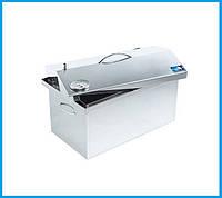 Коптильня для горячего копчения 520х300х310 (нержавейка) с термометром, фото 1