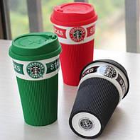 Керамичекий стакан Starbucks с крышкой 600 мл, фото 1