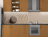 Пластиковый кухонный фартук ПВХ Песок и камень, Самоклеящаяся стеновая панель для кухни, Текстуры, бежевый, 620*2050 мм, фото 1
