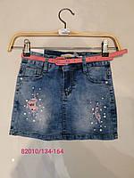 Юбка джинсовая для девочек оптом, Seagull, 134-164 см,  № CSQ-82010