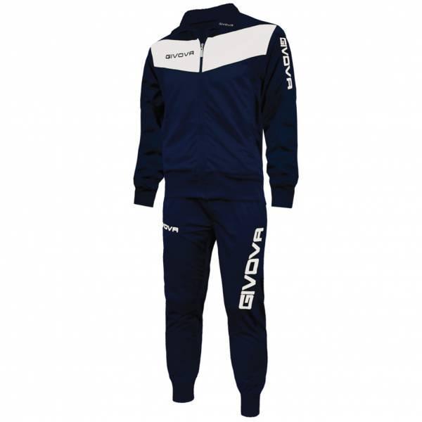 Спортивный костюм Givova Tuta Visa (темно-синий / белый) - Оригинал