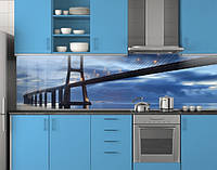 Пластиковый кухонный фартук ПВХ Лаконичный мост, стеновые панели пластик скинали фотопечать, Мосты, фото 1