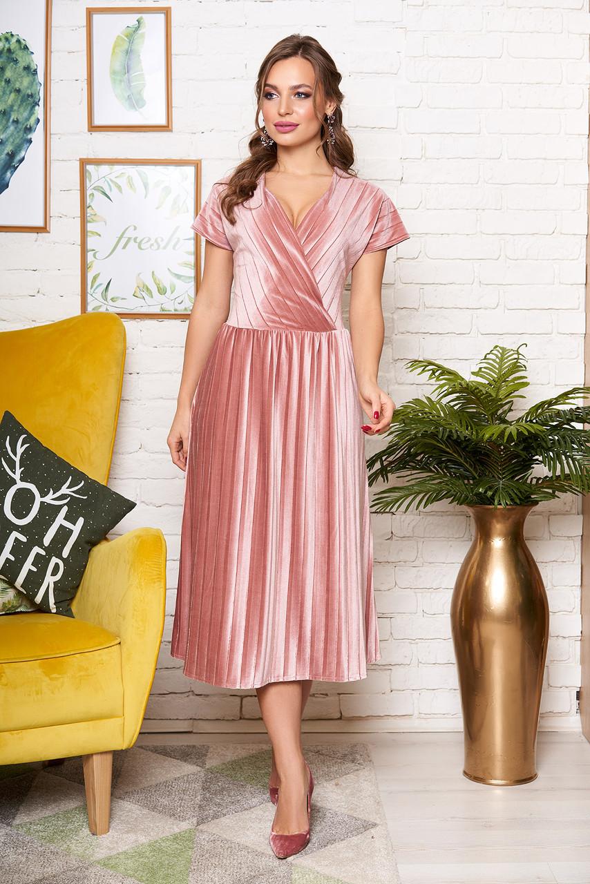 """Платье """"L-171"""" (розовый)(размер 44)"""